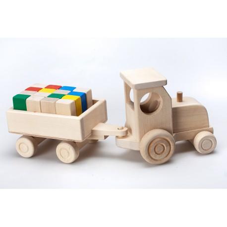 Medinis traktorius su kaladėlėm