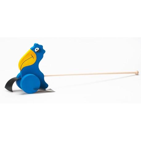Ryškiaspalvis medinis paukštis
