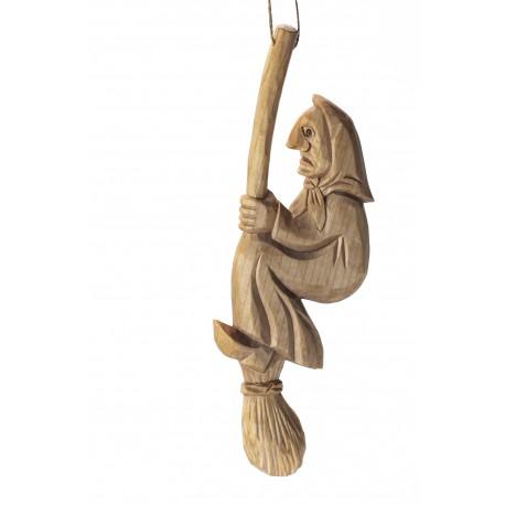 Medinė ragana ant šluotos