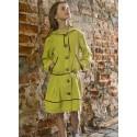 Salotinės spalvos lininė suknelė