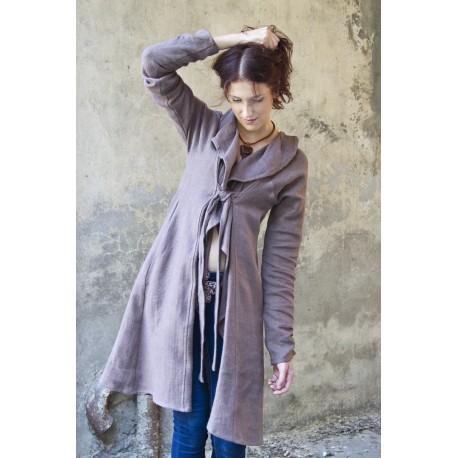 Lininė suknelė - paltas