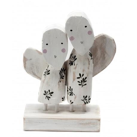 Medinių angelų pora