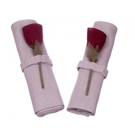 Lininių servetėlių rinkinys