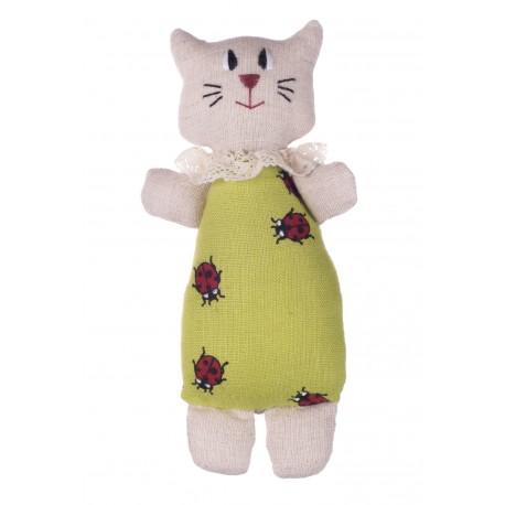 """Ryškiaspalvis lininis žaislas """"Katinas"""""""