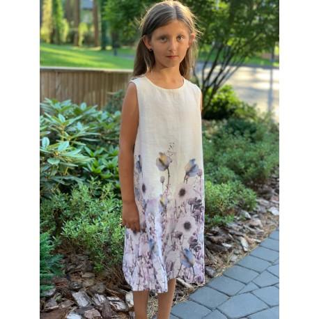 """Lininė suknelė """"Gėlių laukas"""""""