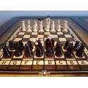 Medinių šachmatų ir šaškių komplektas