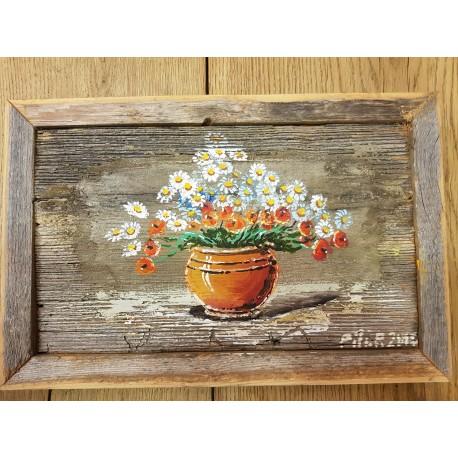 """Medinis paveikslas """"Gėlės vazoje"""""""