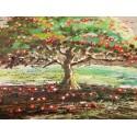 """Medinis paveikslas """"Obelis su raudonais obuoliukais"""""""