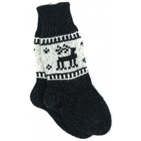 Juodos vilnonės kojinės