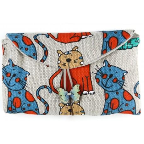 """Lininis krepšys """"Katės"""""""