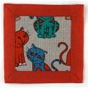 """Lininė servetėlė """"Katės"""""""