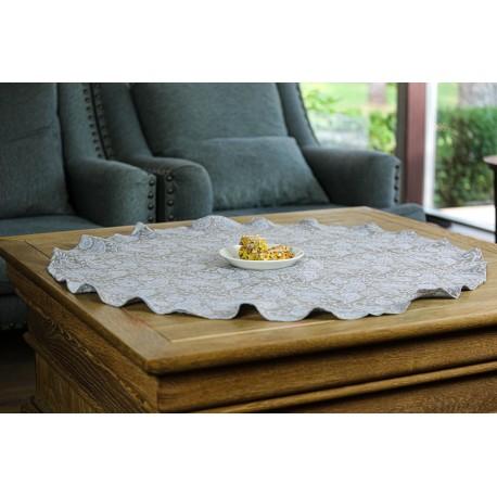 Apvali lininė staltiesė