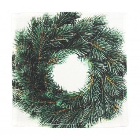 """Balto lino servetėlės """"Kalėdų vainikas"""""""
