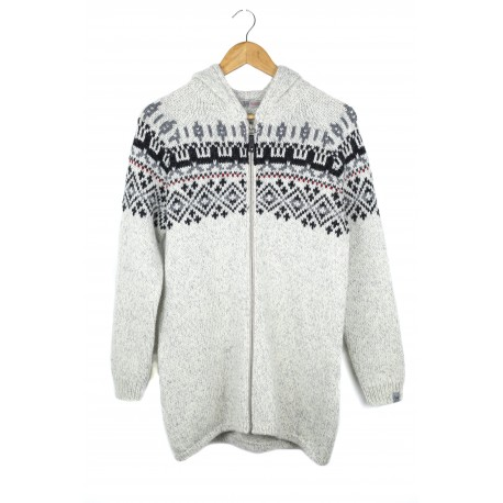 Šviesus vilnos megztinis