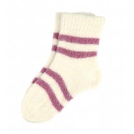Baltos vilnonės kojinės
