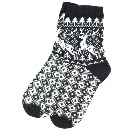 """Vilnonės kojinės """"Briedžiukai"""""""