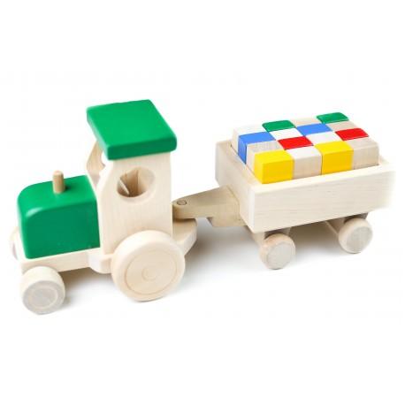Medinis sunkvežimis su kaladėlėmis