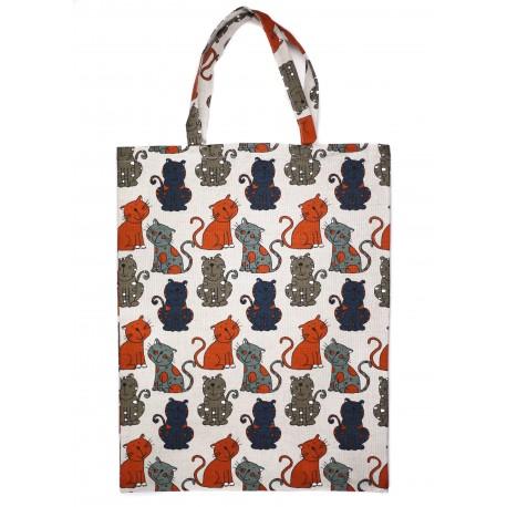 """Lininis krepšys """"Katinėliai"""""""