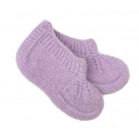 Vaikiškos vilnonės kojinės - šlepetės