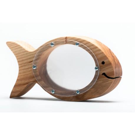 Medinė žuvis - taupyklė