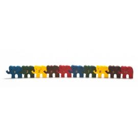 """Medinė spalvota dėlionė """"8 drambliukai"""""""