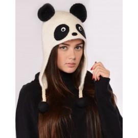 "Vilnonė kepurė ""Panda"""
